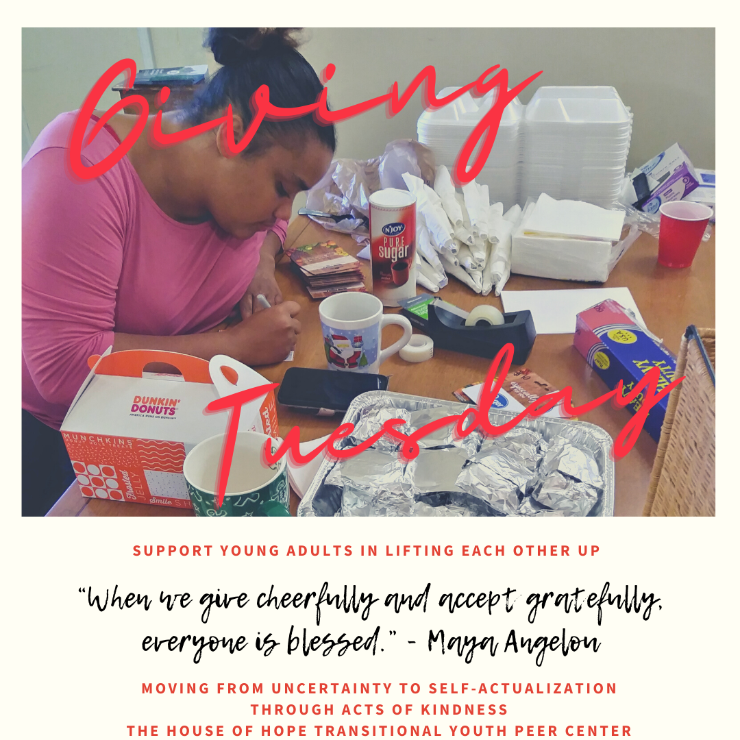 A.A of Giving Tuesday - Support Young Adults